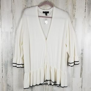 Lane Bryant Cardigan with Ruffled Bell Sleeves